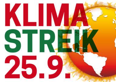 Kein Grad weiter! Streik für das Klima am 25.09.