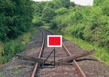 Kein Zug in Sicht im Lumdatal