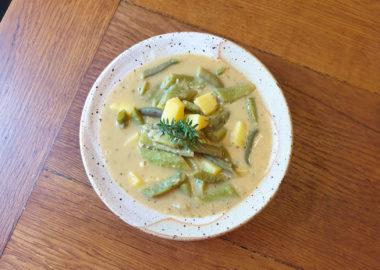 Nachhaltig lecker: Kartoffel-Gartenbohnen-Suppe (mit Trick 17)