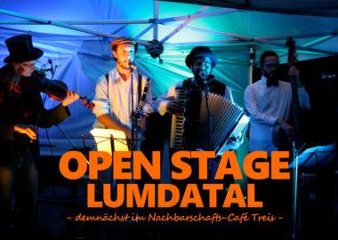 Demnächst im Nachbarschafts-Café: Open Stage Lumdatal