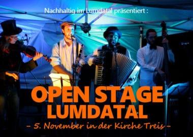 Open Stage Lumdatal – am 5. November in der Kirche Treis